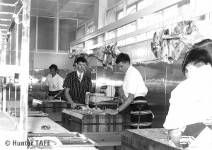 Butchery students, 1970s