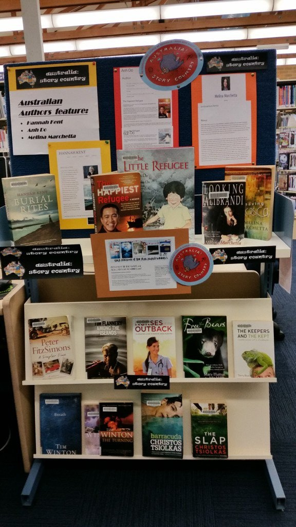 Gosford Library featuring Australian authors