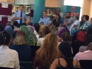 Police represenatatives and participants at Newcastle Campus White Riibbon Event