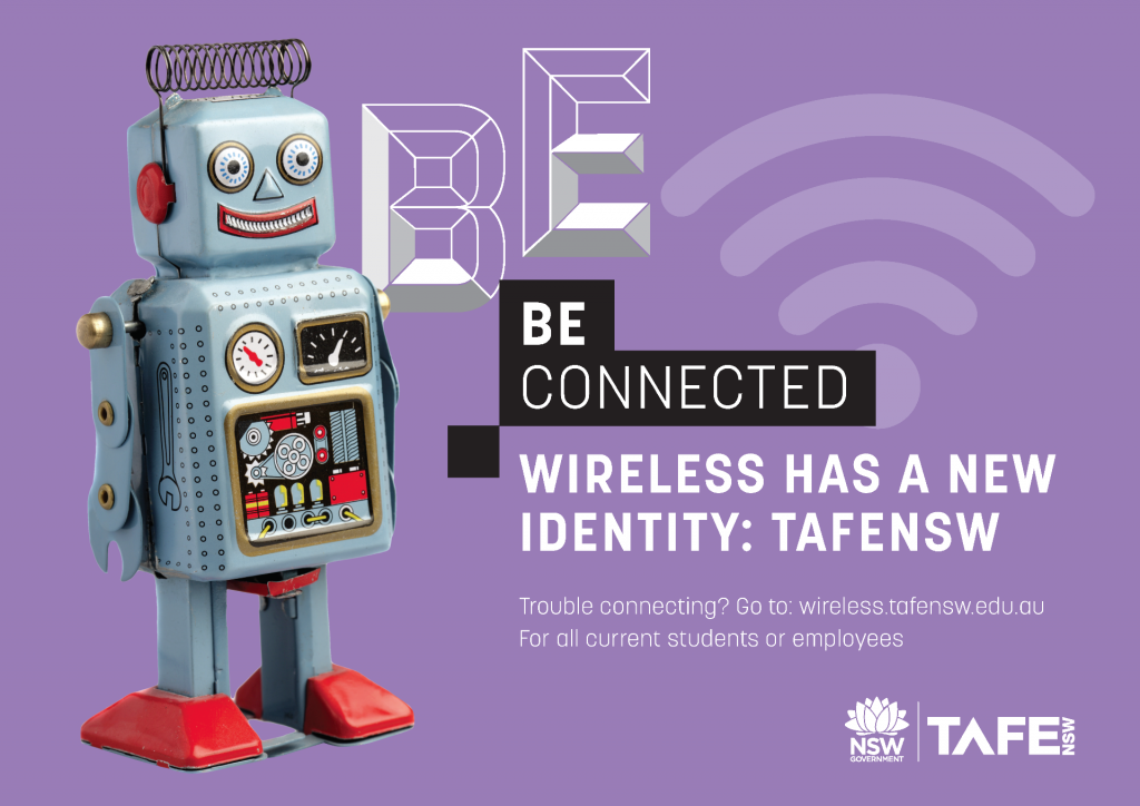 Be Connected with TAFENSW Wireless Internet