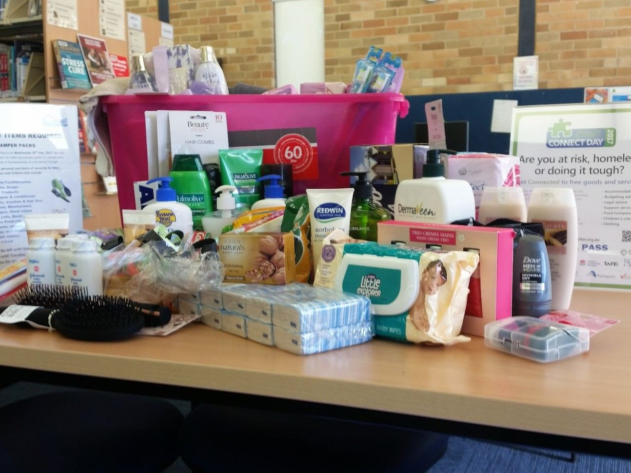 Gosford Library Toiletry Drive