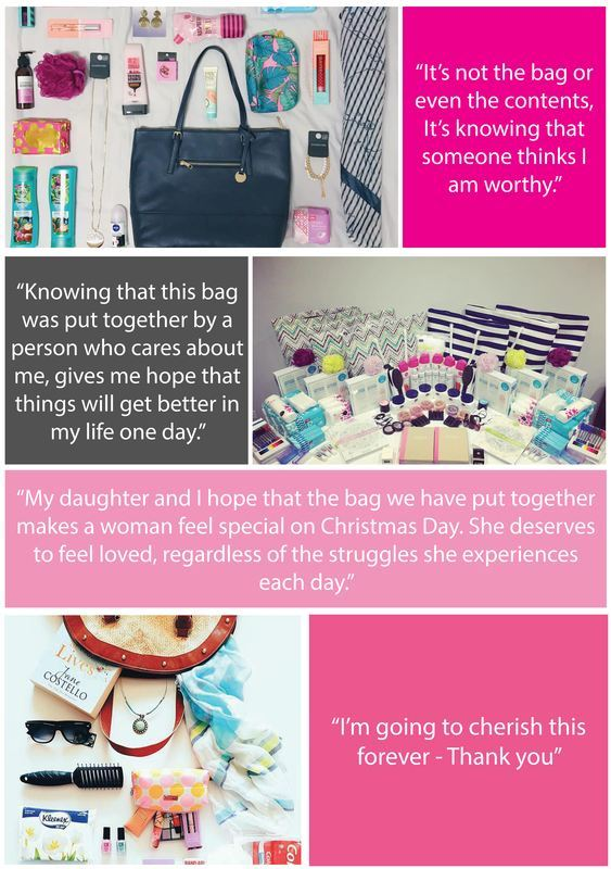Testimonials from recipients of Share the dignity -It's in the bag.