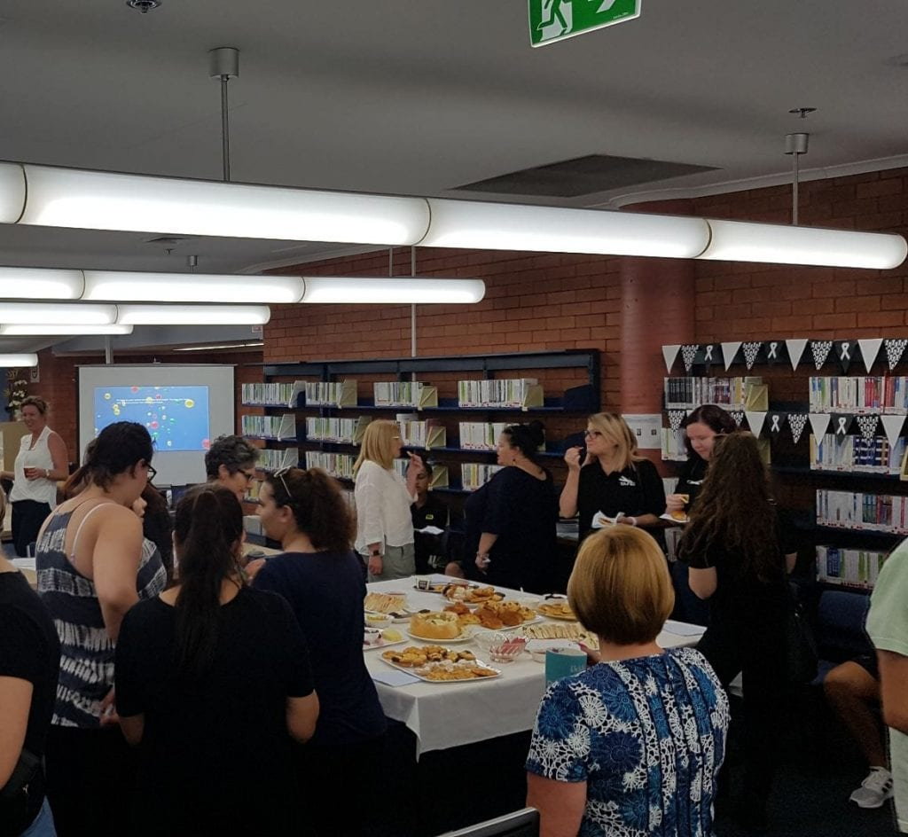 White Ribbon Day at Hamilton Library